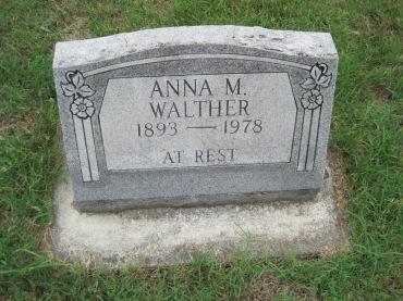 Anna Walther gravestone Zion, Pocahontas, MO