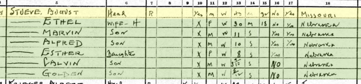 August Stueve 1930 census Wisner NE