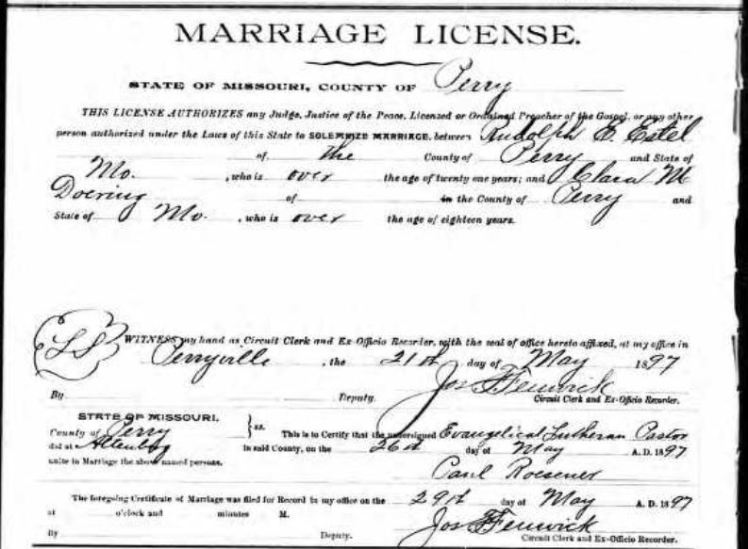 Estel Doering marriage license
