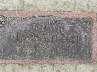 Flora Brunkhorst gravestone Concordia Frohna MO