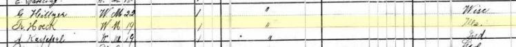 Frederick Hoeck 1880 census Addison, IL