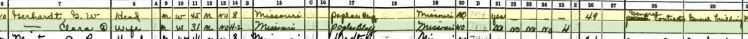 Gottfried Walter Gerhardt 1940 census Kennett MO