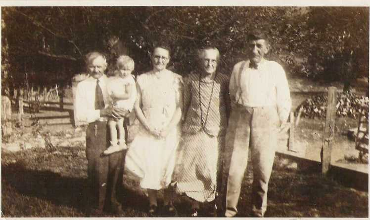 Henry, Emma, and Anna Dreyer with Ernst Walther