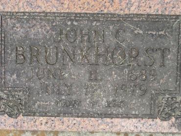 John Brunkhorst gravestone Concordia Frohna MO