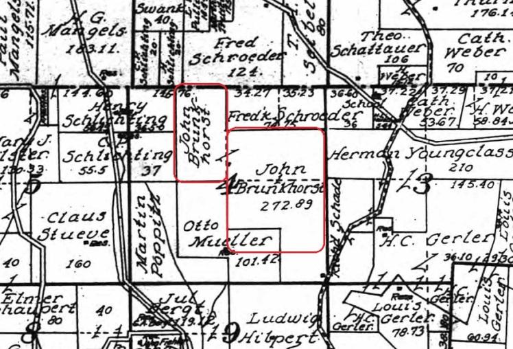 John Brunkhorst land map 1915