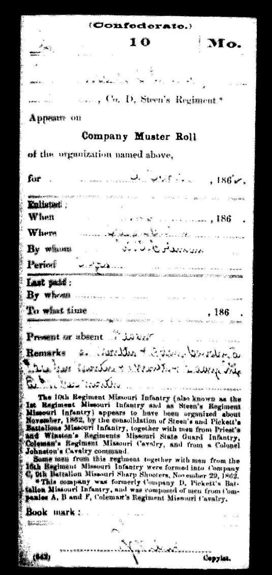 Joseph Luckey Enlistment