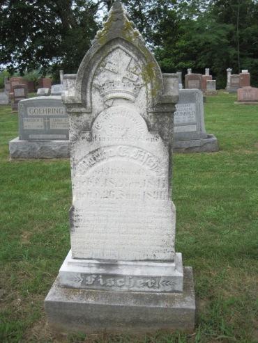 Martha Fischer gravestone Concordia Frohna MO