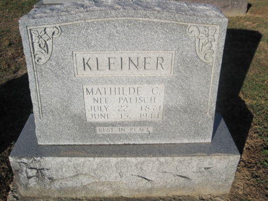 Mathilde Kleiner gravestone Immanuel Altenburg MO