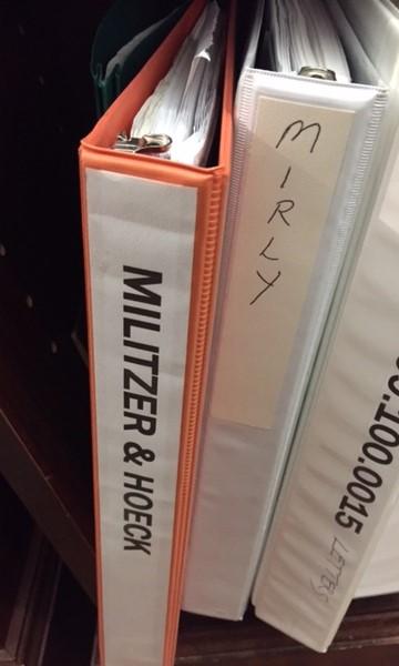 Militzer Hoeck binder