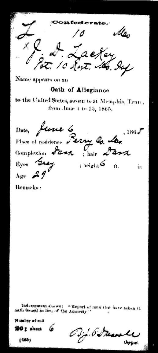 Oath of Allegiance in Memphis, Tennessee