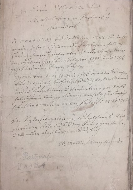 Paitzdorf church records first page