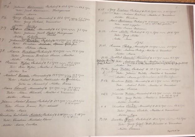 Paitzdorf church records listing 3