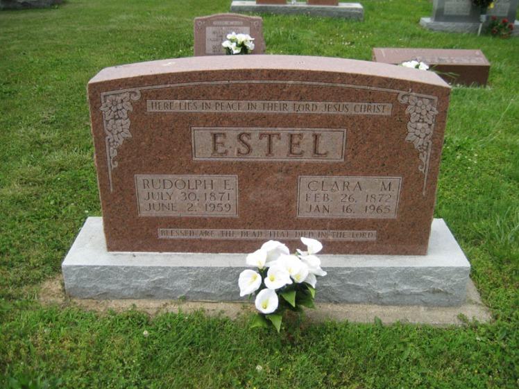 Rudi and Clara Estel gravestone Immanuel Perryville MO