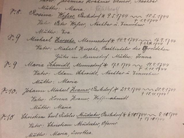 Schmidt Kramer Paitzdorf records