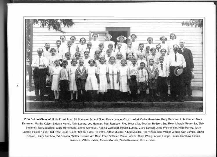 Zion Lutheran Lincoln MO 1914 class