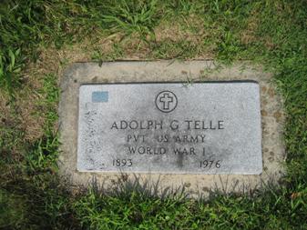 Adolph Telle gravestone Grace Uniontown MO