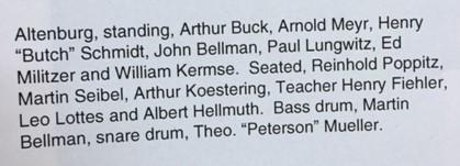 Altenburg band listing