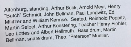 Altenburg band listing