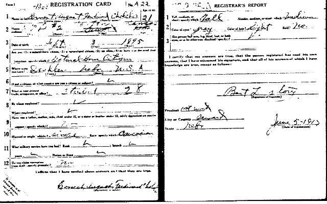 Draft Registration 1917
