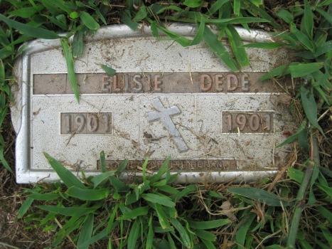Elisie Dede grave marker Concordia Frohna MO