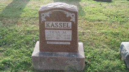 Erna Kassel gravestone Salem Farrar MO