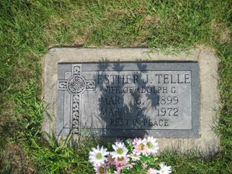 Esther Telle gravestone Grace Uniontown MO