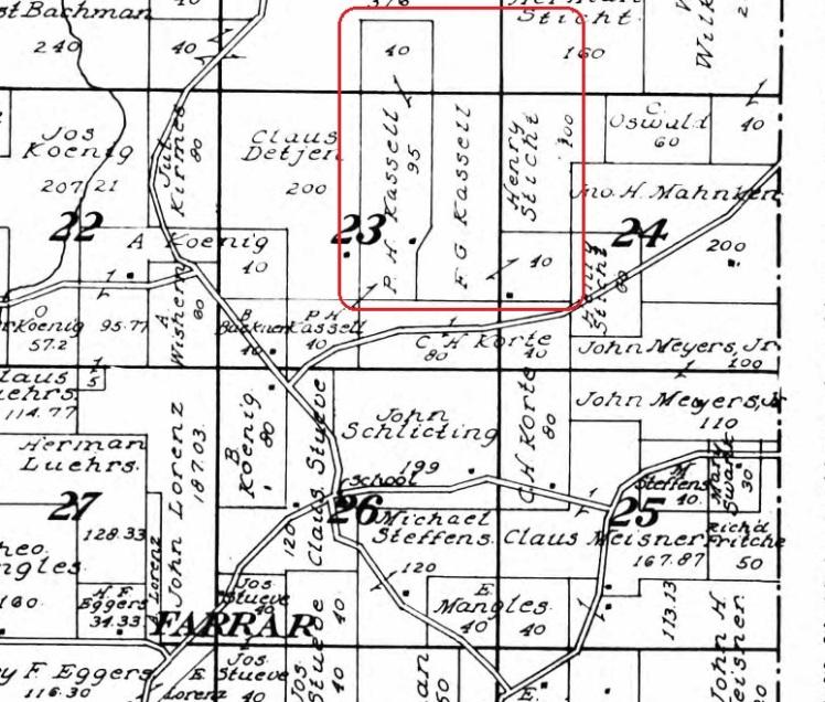 F.G. Kassel land map 1915