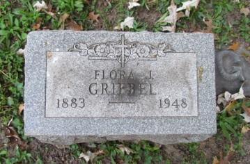 Flora Griebel gravestone Concordia St. Louis MO