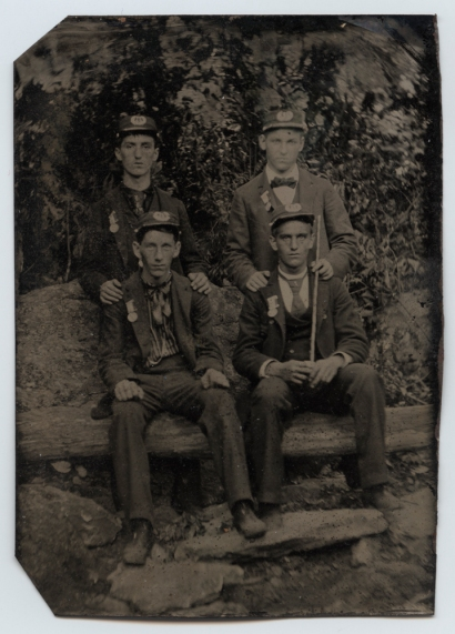Four_Sons_of_Union_Veterans_of_the_Civil_War,_Wearing_Grand_Army_of_the_Republic_Encampment_Medals_(17104882950)