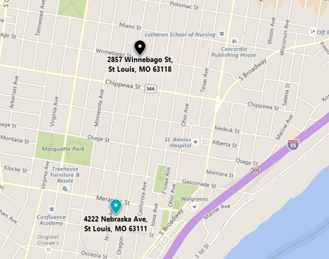 Gaebler homes St. Louis MO map