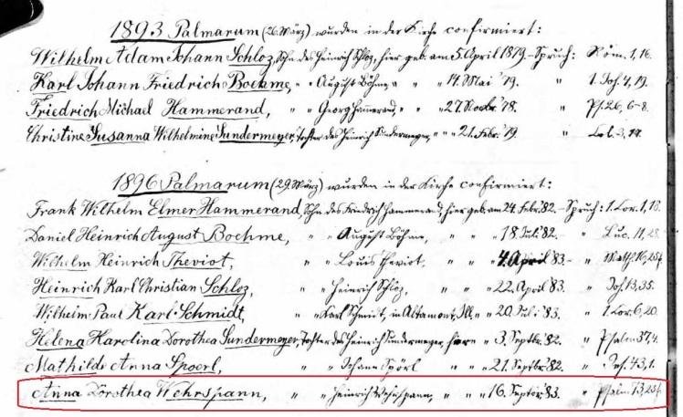 Hammerand Boehme confirmation records St. Matthew Sherrill IA Wehrspann.jpg
