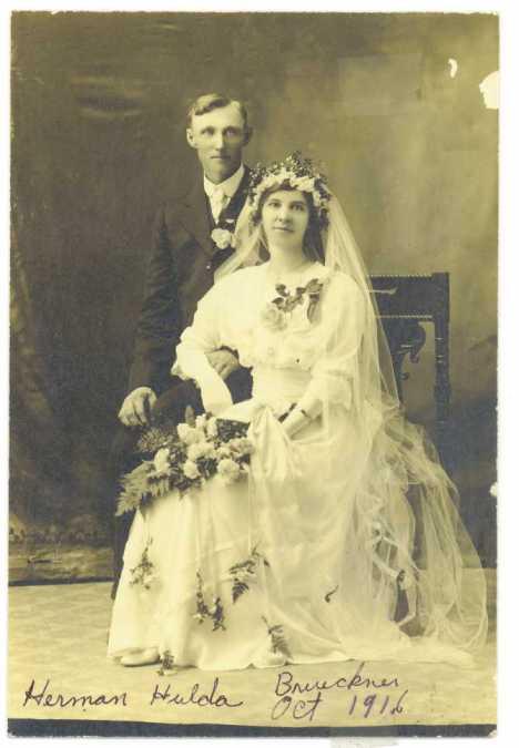Herman Brueckner Hulda Strassburg wedding