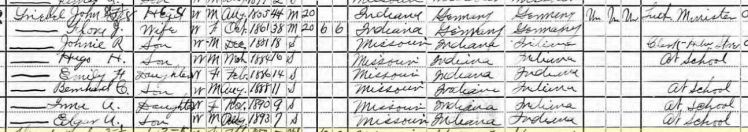 John Griebel 1900 census Perryville MO
