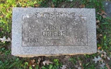 John Griebel gravestone Concordia St. Louis MO