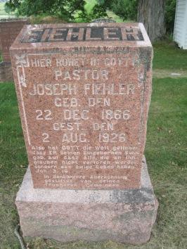 Joseph Fiehler gravestone Concordia Frohna MO