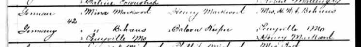 Louis Markwort birth record 2 Perryville MO