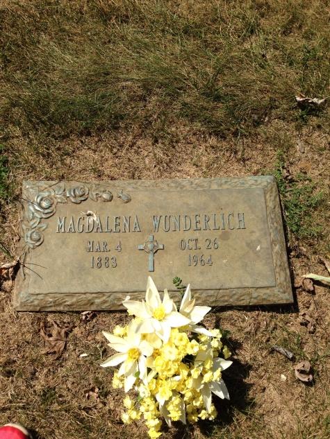 Magdalena Wunderlich gravestone Cape Memorial, Cape Girardeau MO