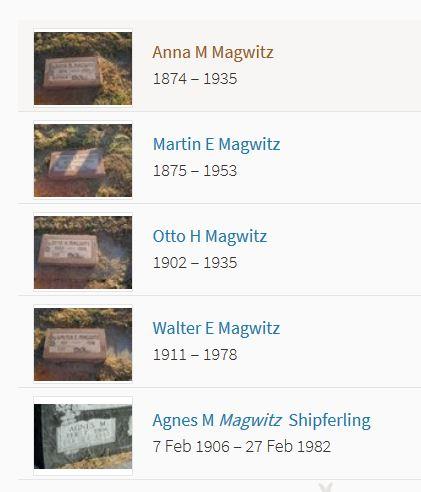 Magwitz graves Vernon Cemetery York NE
