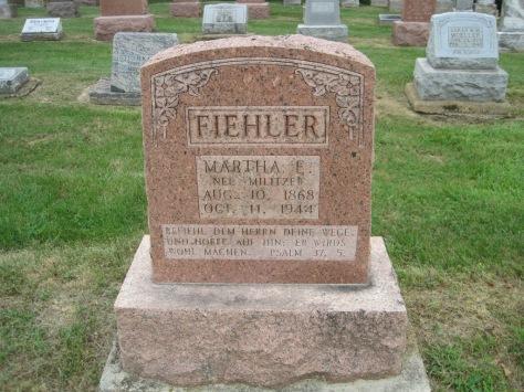 Martha Fiehler gravestone Concordia Frohna MO