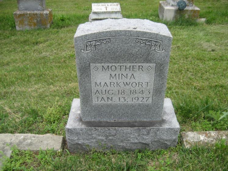 Mina Behrens gravestone Immanuel Perryville MO