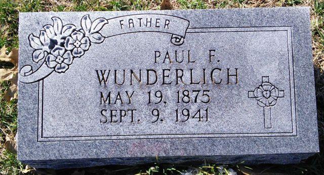 Paul Wunderlich gravestone Immanuel Tilset MO