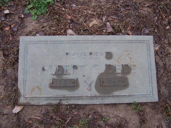 Rev. Albert Dede gravestone Cape County Cape Girardeau MO