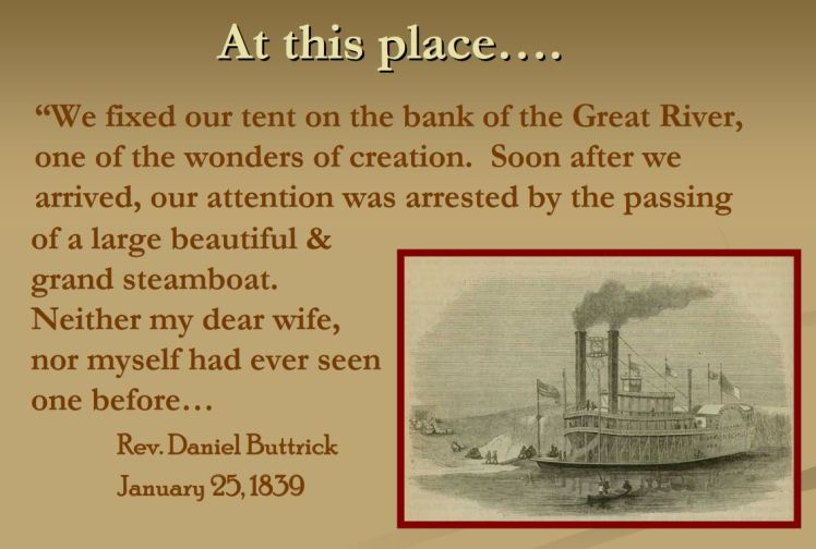 Rev. Buttrick quote steamboat