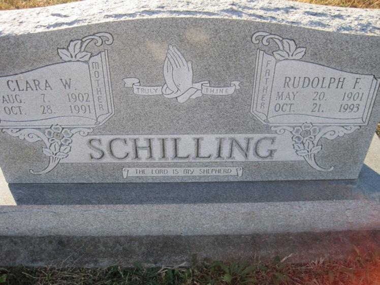 Rudy and Clara Schilling gravestone Trinity Altenburg MO