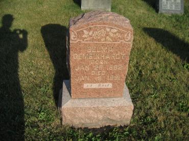 Selma Gemeinhardt gravestone St. Paul's Wittenberg MO