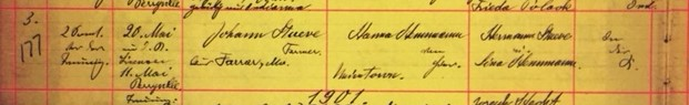 Stueve Hemmann marriage record Grace Uniontown MO