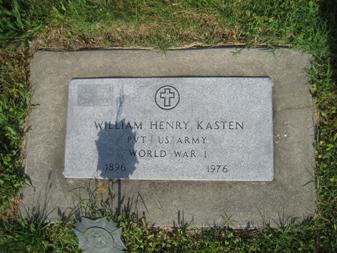Wilhelm Kasten Jr. gravestone Grace Uniontown MO