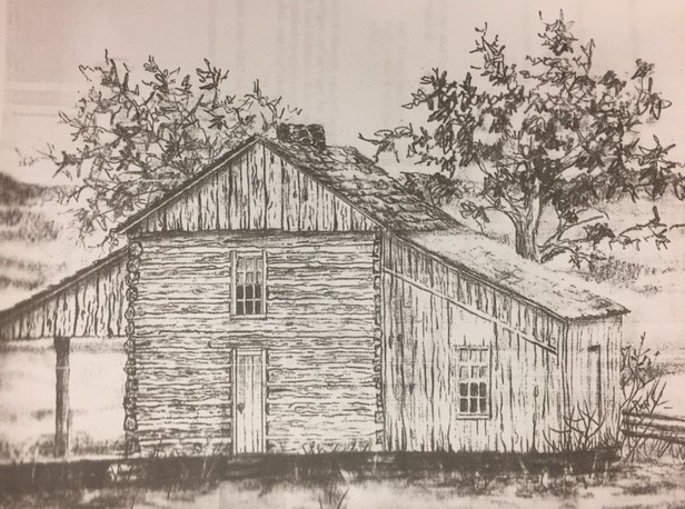 Wunderlich farm place drawing New Wells