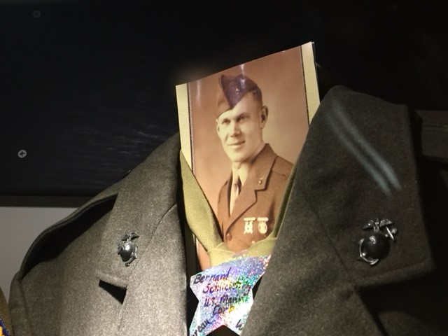 Barney Schlichting military photo and uniform
