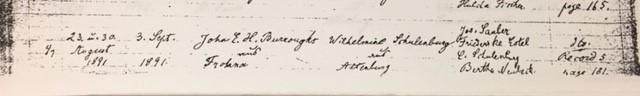 Burroughs Schulenburg marriage record Trinity Altenburg MO